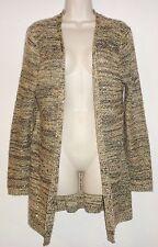 Avon Mark Women's Sweater Cardigan Tunic Size XL Fuzzy Knit Sequin Black Beige