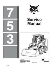 New Bobcat 753 Skid Steer Repair Service Manual 1990 6720326 FREE SHIPPING