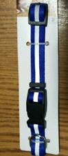 """Small Blue Dog Collar Reflector Stripe Reflective 5/8""""X 10""""-16"""" @My Other Items"""