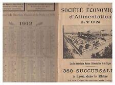 AGENDA  1912 SOCIETE ECONOMIQUE D'ALIMENTATION LYON  CH DE LA MOTTE