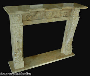 Fireplace Stone Travertine Old Interior Classic Vintage Design
