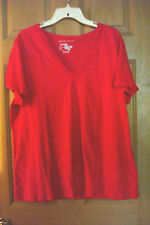 NWOT PLUS SZ 2X (18W/20W) RED COLORED TEE TOP BY JMS