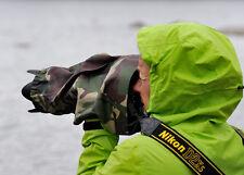 Rain cover fits Canon Nikon Tamron Sigma 70-200 f2.8  or Canon 300 f4 in Camo