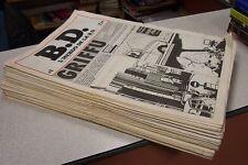 LOT BD B.D. l'hebdo de la BD N° 1 à 49 tous les lundi manque numéros 32-46-47-48