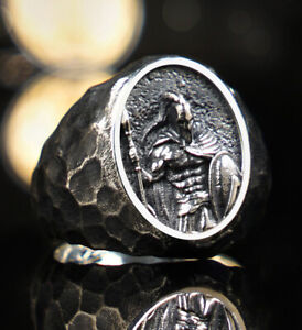 Man Solid 925 Sterling Silver High Quality Spartan Army Men's Designer Ring M166