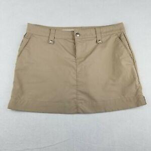 "Under Armour Golf Skirt Skort Size 8 34"" Lined 15"" Length Active Brown Beige"