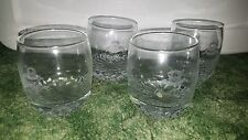 Lot 4 Crown Royal Whiskey Cocktail Rocks Glasses Tumblers Etched Name
