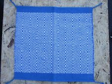 WESTERN SHOW SADDLE BLANKET PAD BARREL RACER ROPING HORSE TRAIL BLUE AREA RUGS