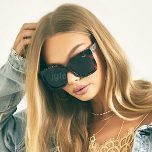 New Women Quay ICY Studs Square Studded on Brow Sunglasses Tort Smoke Eyewear