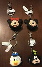 Disney Parks Mickey and Friends Rubber Mini Coin Purse Keychain U PICK