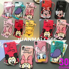 For iPhone X XS MAX XR 8 7 6S Plus Cartoon Disney Minnie Micky Case Cover Skin