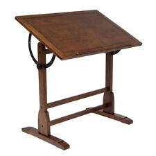 NEW Studio Designs Rustic Oak Vintage Drafting Table Contemporary Wood