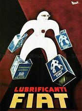 COMMERCIAL ADVERT MOTOR OIL LUBRICANT FIAT ITALY POSTER ART PRINT BB1931A