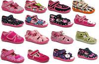 GIRLS SANDALS Children Kids Toddler Infant Casual Canvas Shoes Fasten