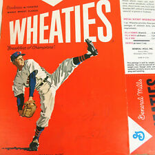 1950's Wheaties Baseball Cereal Box - VTG General Mills Collectable