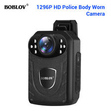 BOBLOV 1296P Police Body Camera External Storage With Audio For Security Guard