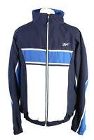 Vintage Reebok Mens Full Zip Tracksuit Top Retro Sportswear M Multi - SW2525