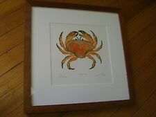Jonas Crab, Mathew Smith, Signed, Copper Block Etching, 66/300 Ed.-Cherry Frame