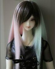 1 3 8-9 Bjd wig MSD MDD Luts Obitsu60 DD Doll green mix wig hair
