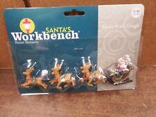 Santa's Workbench Santa with sleigh village accessories ornaments-41j