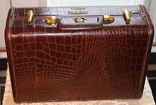 Vintage Mid Century Samsonite Suitcase Model 4160 Faux Alligator