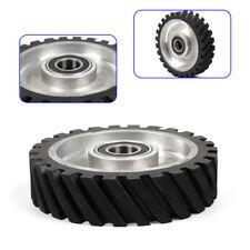 "New Listing! Balanced 8"" Serrated Contact Rubber Wheel for Belt Grinder Sander"