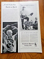 1962 Hardware Mutuals Sentry Life Insurance Ad Security Begins at Home