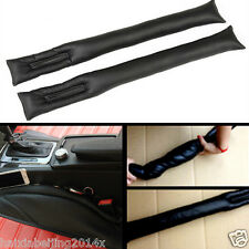 2x Black PU Leather Car Auto Seats Side Seam Gap Filler Stop Holster Leakproof