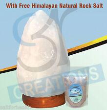 Himalayan Natural White Salt lamp (4-6 Kg) Natural Rock Salt