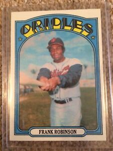 +++ FRANK ROBINSON 1972 TOPPS BASEBALL CARD #100 - BALTIMORE ORIOLES +++