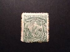 NEW ZEALAND 1900 PICTORIAL 1/2D HALF PENNY MT COOK GREEN - USED