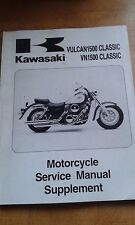 KAWASAKI VULCAN VN1500 E1 F1 SUPPLEMENT SERVICE MANUAL 99924-1229-51 1998