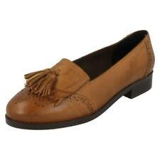 Brogues Patternless Regular Flats for Women