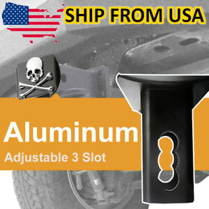 """Tow Towing Trailer Hitch Cover 3D Emblem For 2"""" Receivers Tube Plug Aluminum"""