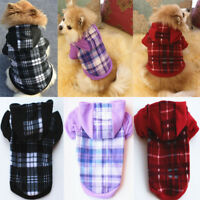 Dog Hoodie Warm Winter Coat Sweater Clothes Pet Puppy Cat Jacket Costume Jumper