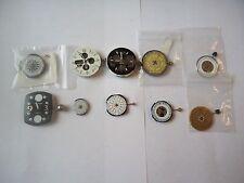 Vintage Quartz Movements w/Calender Dials 4 repairs or SteamPunk Crafts Lot# f74