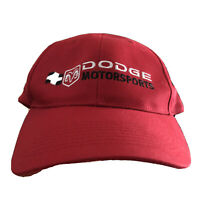 Dodge Motorsports NASCAR Hat Baseball Cap Red Ram Racing One Size Chrysler