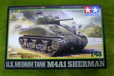 Tamiya U.S. M4A1 SHERMAN MEDIUM TANK  1/48 Scale kit 35223