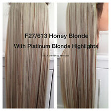 Brown Clip In Hair Extensions Synthetic 1PC Thick Long Straight 3/4 Full Head