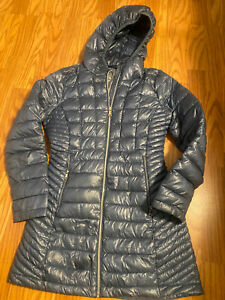 Womens CALVIN KLEIN packable down jacket sz small hooded