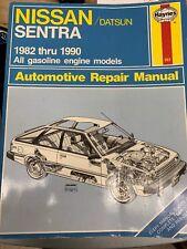 Haynes Automotive Repair Manual: Nissan, Datsun Sentra, 1982-90 Gas Engine