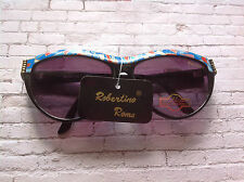 FUNKY CRAZY PATTERN 80S DEADSTOCK SUNGLASSES BY ROBERTINO ROMA MADE IN ITALY