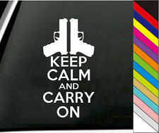 """15 Colors  """"keep Calm And Carry On"""" Decal Car Windows Bump Funny Vinyl Stickers"""