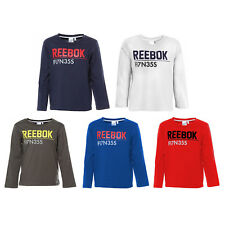 reputable site 7f5d9 294bf Reebok Kinder Jungen Mädchen Longsleeve Sweatshirt Langarm Shirt Logo Print