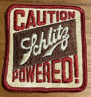 Vintage SCHLITZ Powered Beer Patch Retro