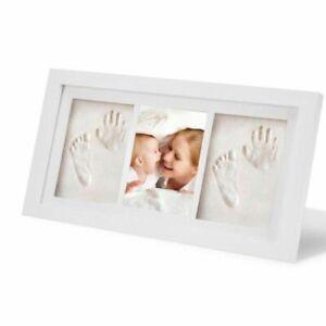 Photo Frame Set Baby Kid Children Foot Finger Hand Wooden Print Clay Gift Memory