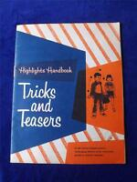 HIGHLIGHTS HANDBOOK TRICKS AND TEASERS CHILDRENS PUZZLE BOOK VINTAGE 1965