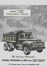 FORD TANDEM AXLE TRUCKS USA SALES BROCHURE OCTOBER 1954 FOR 1955 MODEL YEAR