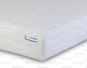"NEW 7 ZONE MEMORY FOAM & REFLEX FOAM MATTRESS COOL TOUCH FABRIC 7""(17cm) DEEP"