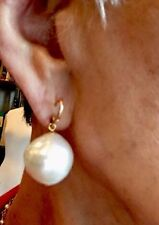 Wendy Brigode Very Large So Sea Baroque Creme Earrings Amazing!